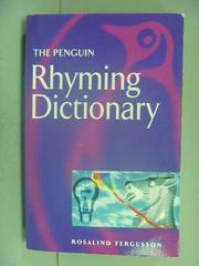 【書寶二手書T2/字典_LGE】The Penguin Rhyming Dictionary_Ferguson, Ros