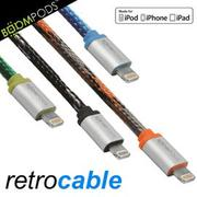 【BOOMPODS retrocable MFI Lightning USB apple認證充電傳輸轉接頭】8pin USB充線傳輸 iPhone5S、iPad Air可用 【風雅小舖】