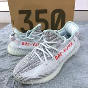 Adidas + KANYE WEST YEEZY BOOST 350 V2 Blue Tint / Grey Three / High Resolution Red
