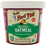[iHerb] [iHerb] Bob's Red Mill Organic Oatmeal Cup, Cranberry Orange with Flax & Chia, 2.47 (70 g)