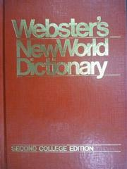 【書寶二手書T3/字典_QIM】Websters New World Dictionary_1986年