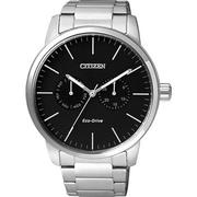 CITIZEN Eco-Drive 光動能日曆腕錶-黑/44mm AO9040-52E