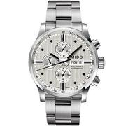 MIDO Multifort Chrono Valijoux 計時碼錶-白/44mm M0056141103100