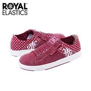 【Royal Elastics】女-Icon Washed 休閒鞋-酒紅/雪花(92364-011)