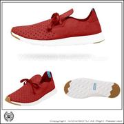 NATIVE  SHOES - APOLLO MOC - TORCH RED/SHELL WHITE (6400)