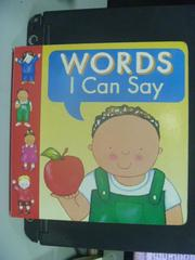 【書寶二手書T3/少年童書_OGW】Words I Can Say_Anne Lock