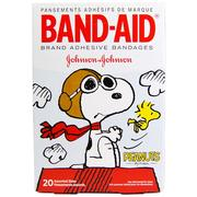 Band Aid, Adhesive Bandages, Peanuts, 20 Assorted Sizes