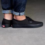 KS▸KS▸VANS AUTHENTIC ALL BLACK 全黑 滑板鞋 帆布 男鞋【VN000EE3BKA】