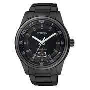 CITIZEN Eco-Drive 都會經典光動能腕錶(IP黑/43mm) AW1284-51E