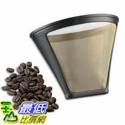 [美國直購] Cuisinart GTF-4 咖啡粉濾網 Gold Tone Filter for Cuisinart 4-Cup Coffeemakers, Gold/Black