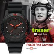 Traser P6600 Red Combat軍錶#104147#104148【AH03124】