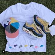 NIKE AIR MAX 1 97 SEAN WOTHERSPOON AT0546-100 白 大LOGO 短TEE
