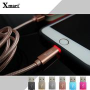 Xmart Apple 1.2米/120cm 發光編織傳輸線/充電線/2.4A/Apple iPhone 5/5S/5C/6/6S/6 PLUS/6S PLUS/7/7 Plus/iPad 5/iPad Air/Air 2/iPad Pro/iPad mini2/mini3/mini4
