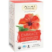 [iHerb] Numi Tea, Organic Tea, Herbal Tea, Embrace, No Caffeine, 16 Tea Bags, 1.41 oz (40 g)