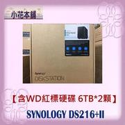【NAS+硬碟】 群暉 Synology DS216+II + WD紅標6TB(WD60EFRX)*2顆