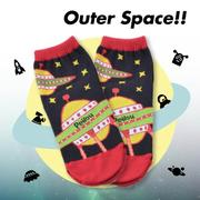【Outer Space】太空飛船短襪(3入)