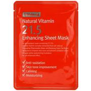 [iHerb] By Wishtrend, Natural Vitamin 21.5 Enhancing Sheet Mask, 1 Mask, 0.81 oz (23 g)