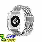 [美國直購] MobileBro 42mm Apple Watch Band Stainless Steel Replacement Milanese Loop Wrist Strap silver 錶帶