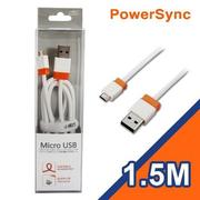 群加 USB TO MicroUSB B 1.5M (白)USB2-ERMIB159N