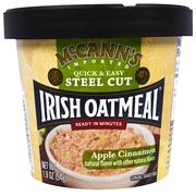 [iHerb] McCann's Irish Oatmeal, Quick & Easy Steel Cut, Apple Cinnamon, 1.9 oz (54 g)