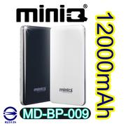 【miniQ】MD-BP-009 12000mAh 雙輸出行動電源-手機平板配件-myfone購物