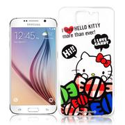 【Hello Kitty】Samsung Galaxy S6 透明 手機軟殼(糖果HI)