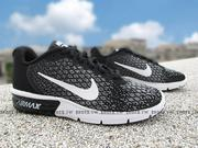 《下殺6折》Shoestw【852465-002】NIKE WMNS AIR MAX SEQUENT 2 慢跑鞋 黑白 氣墊 女款