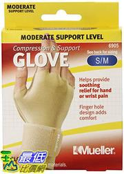 [106美國直購] Mueller Sports 手套 Medicine Compression Glove, Small/Medium, 0.095 Pound