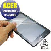 【Ezstick】ACER Iconia One 7 B1-760 靜電式平板LCD液晶螢幕貼 (高清霧面)