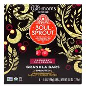 [iHerb] Two Moms in the Raw, Soul Sprout, Granola Bars, Cranberry Chia Crunch, 6 Bars, 1 oz (28 g) Each