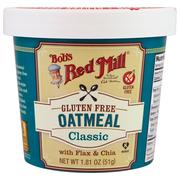 [iHerb] Bob's Red Mill, Oatmeal, Classic, With Flax & Chia, 1.81 oz (51 g)