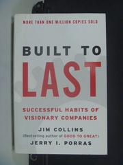 【書寶二手書T6/財經企管_JKT】Built to Last: Successful Habits…