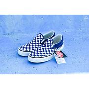 ISNEAKERS VANS Slip On 棋盤格 懶人 藍白 基本 滑板鞋 帆布 男女 VN0A38F7QCN