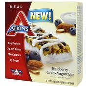 [iHerb] Atkins, Greek Yogurt Bar, Blueberry, 5 Bars, 1.7 oz (48 g) Each