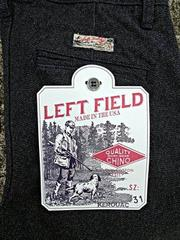 美國製手工Left Field 1940s Style Salt And Pepper 14oz Twill Chino