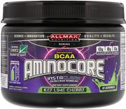 [iHerb] ALLMAX Nutrition, AMINOCORE, BCAA, 8G BCAAs, 100% Pure 45:30:25 Ratio, Gluten Free, Key Lime Cherry, 3.70 oz (105 g)