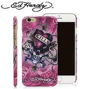 Ed Hardy iPhone 6 Plus 5.5吋背蓋保護殼-暗黑LKS粉
