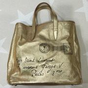 YSL Y-Mail Tote Metallic Gold 金色托特包