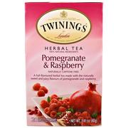 [iHerb] Twinings, Herbal Tea, Pomegranate & Raspberry, Caffeine Free, 20 Tea Bags, 1.41 oz (40 g) Each