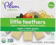 [iHerb] Plum Organics Little Yums, Organic Teething Wafers, Spinach, Apple & Kale, 6x0.5oz