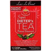 [iHerb] Natrol, Laci Le Beau, Super Dieter's Tea, Natural Botanicals, 12 Tea Bags (1.46 oz) (42 g)