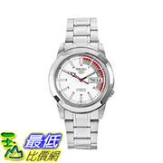 [美國直購] Seiko Men's 男士手錶 SNKK25 5 Stainless Steel White Dial Watch