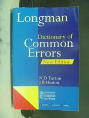 【書寶二手書T6/語言學習_OGP】Longman Dictionary of Common Errors