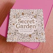 秘密花園Secret GardenColouring Book繪畫本繪圖本著色本