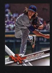 2017 Topps Series 1 #155a  Jacob deGrom  紐約大都會隊
