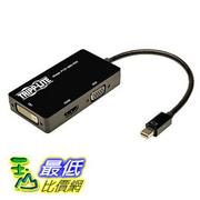[美國直購] Tripp Lite Keyspan Mini Displayport to VGA/DVI/HDMI, All-in-One Cable Adapter, 適配器