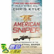 [美國直購] 2015 Amazon 暢銷書排行榜 American Sniper The Autobiography US Military History 0062238868 $470