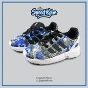 七折☆speedkobe☆ADIDAS ORIGINALS ZX FLUX I  深灰 藍花白 花卉 中童 S82704