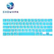 【SHOWHAN】Apple MacBook Pro Touch Bar 13吋中文注音鍵盤膜 白藍