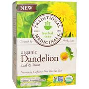 [iHerb] Traditional Medicinals, Herbal Teas, Organic Dandelion Leaf & Root Tea, Naturally Caffeine Free, 16 Wrapped Tea Bags, .99 oz (28 g)
